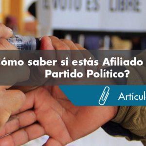 Verifica si estás Afiliado a algún Partido Político - Realvirtual